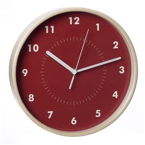 simple wall clock simple wood wall clock west elm