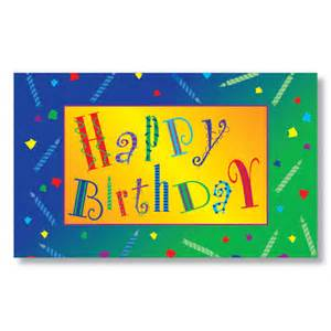 festive expressions business birthday card