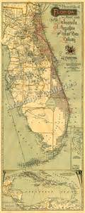 florida railroad map 1893 railroad map of florida historic railway map 24x60 ebay