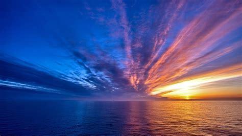 colorful ocean wallpaper 1920x1080 colorful sunset ocean desktop pc and mac wallpaper