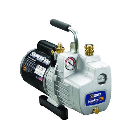 vacuum pump ac yellow jacket 93540 superevac 4 deluxe ac vacuum pump