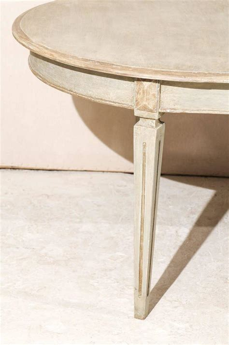 Oval Shaped Dining Tables Swedish Oval Shaped Gustavian Style Dining Table At 1stdibs