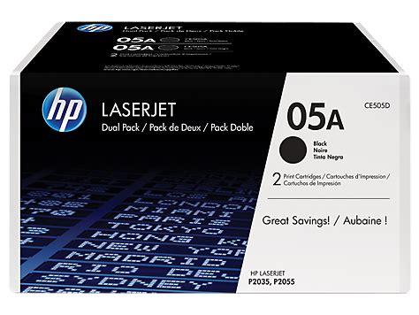Rekondisi Laserjet Hp 05a hp 05a 2 pack black original laserjet toner cartridges ce505d hp 174 canada
