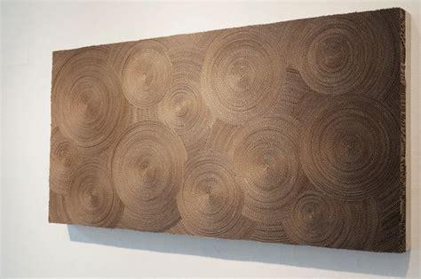 unusual wall art   cardboard hypnotic wall art