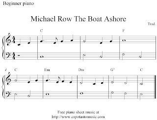 michael row your boat ashore meaning free easy piano sheet music for beginners michael row the