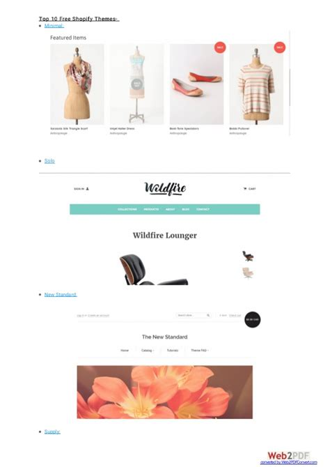 shopify themes classic 20 best and most used responsive shopify themes 10 free