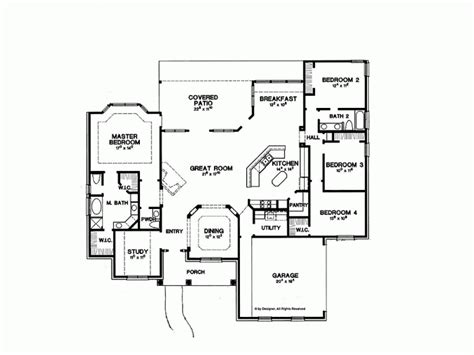 one level home plans 2500 sq ft one level 4 bedroom house plans house plan four bedroom new american 2500