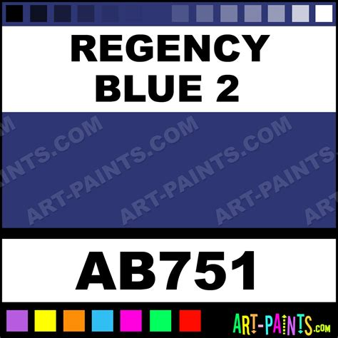 color regency regency blue 2 artist acrylic paints ab751 regency