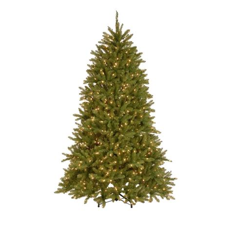 home accents holiday 75 frasier fir national tree company 7 5 ft pre lit dunhill fir hinged artificial tree with 700 dual