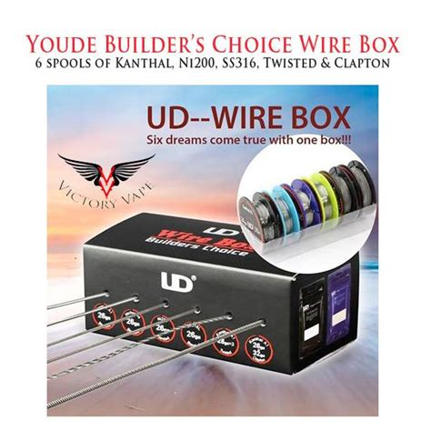 Ud Builders Choice Authentic Best For Vaporizer Wire Diy youde ud builders choice wire box 6 assorted spools victory vape