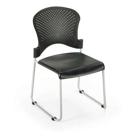 Plastic Office Chair by Office Master St200 Stacking Guest Chair Black Plastic Seat