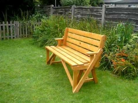 wooden bench turns   picnic table  love