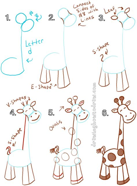 how to draw a giraffe doodle big guide to drawing giraffes with basic shapes
