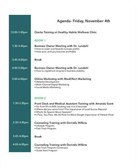 tutorial marketing online pdf 23 training agenda exles sles