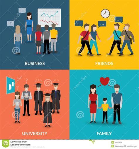 pattern of family organization people social behavior patterns stock vector image 48897324