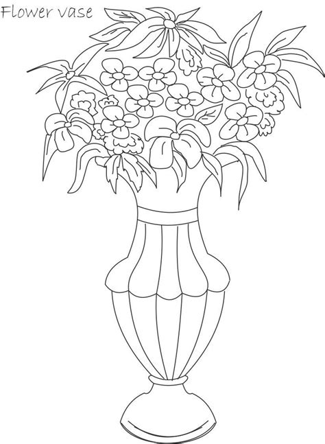 Flower Pot Coloring Printable Page For Kids 10 Simple Flower Pot Draw Color It