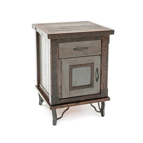Country Mission 1 Drawer 1 - hill country reclaimed barn wood 1 door 1 drawer nightstand