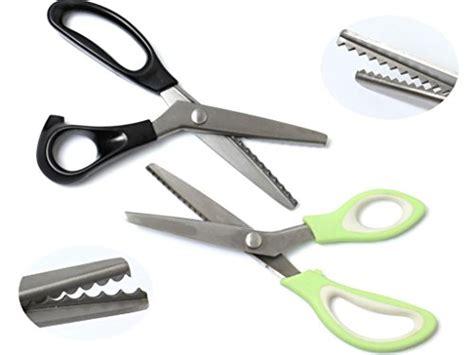 decorative edge scissors set ginsco 2 pcs set stainless steel dressmaking fabric
