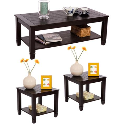 Zenith 3 Piece Cocktail And End Tables Value Bundle Walmart Coffee Table And End Tables