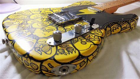 Custom Doodle telecaster tele custom paint custom guitar paint
