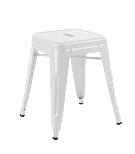 White Stool by Stool Low White Barlens