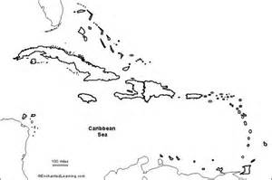 Outline Map Of America And Caribbean by Outline Map Of Caribbean Countries Pictures To Pin On Pinsdaddy