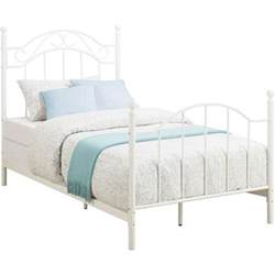 white metal bed frame headboard footboard
