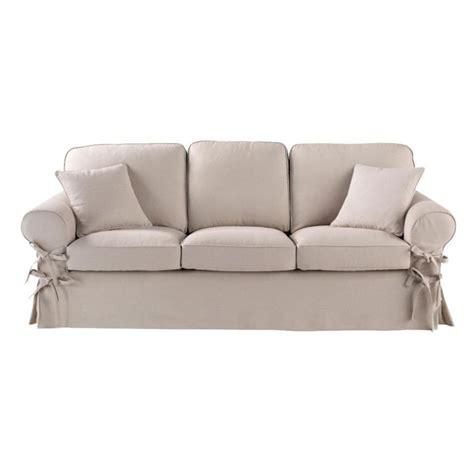 sofa maison du monde sofa 3 sitzer aus leinen graubeige butterfly maisons du