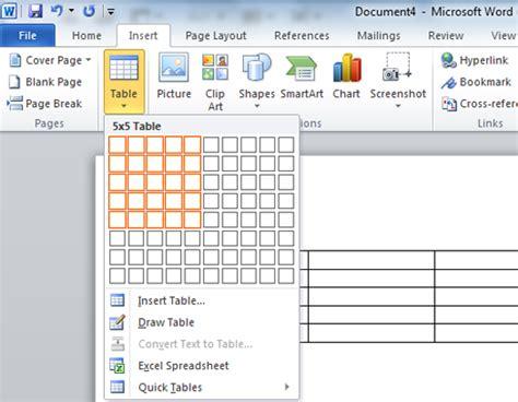 membuat link tabel cara menggunakan tabel pada microsoft word