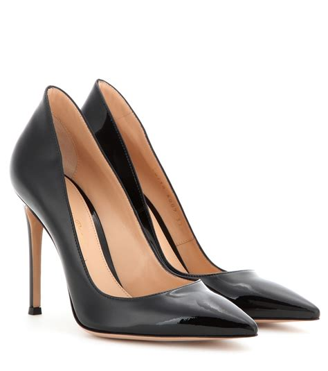 Pumps In Black gianvito patent leather pumps in black lyst