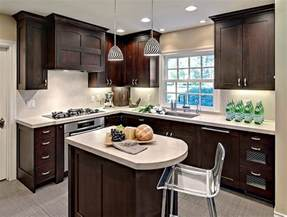 Small Kitchen With Dark Cabinets by 24 Tiny Island Ideas For The Smart Modern Kitchen