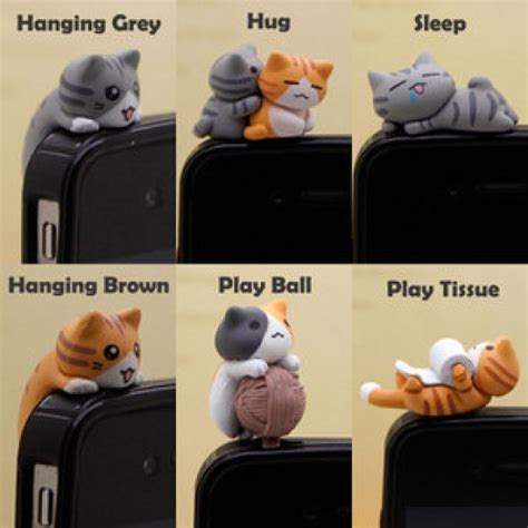 New Softcase Karakter Lucu Untuk Iphone 5g barangunik co detil produk dust kucing lucu 3 dimensi
