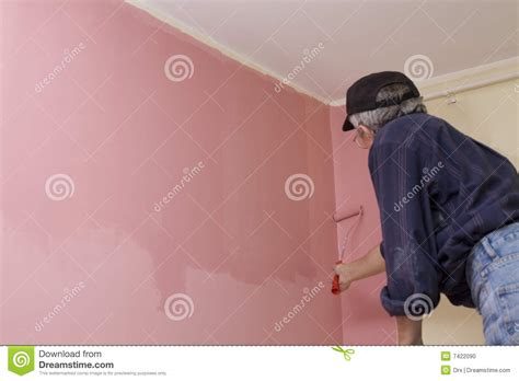 paint man man painting a wall stock photo image 7422090