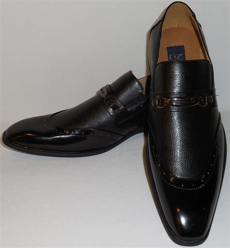 mens dress shoes loafers majestic 99502 mens classically black slip on