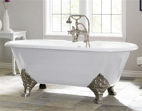 bathtub vintage carlton by cheviot cast iron clawfoot tub traditional