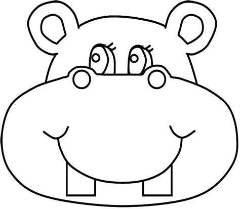 hippo face coloring page hippo face coloring page coloring pages