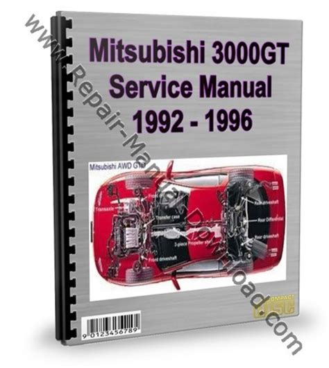 car repair manuals online pdf 1994 mitsubishi 3000gt transmission control mitsubishi 3000gt gto 1992 1996 service repair manual download