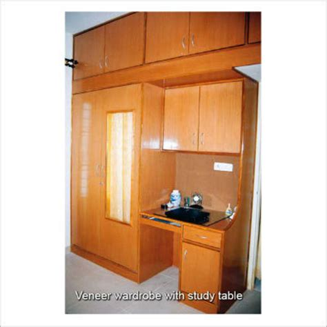 Kitchen Designs And Prices veneer wardrobe with study table