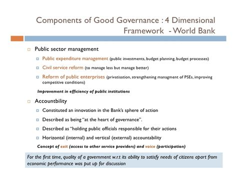 world bank definition of governance governance origin concepts and components