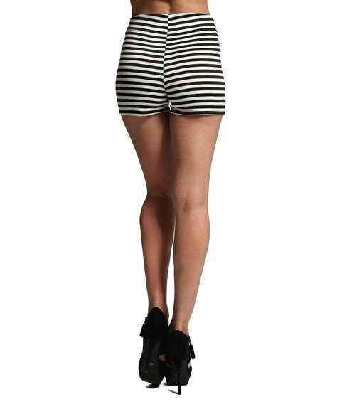 black and white patterned shorts outfit mogan black and white striped shorts double breasted high