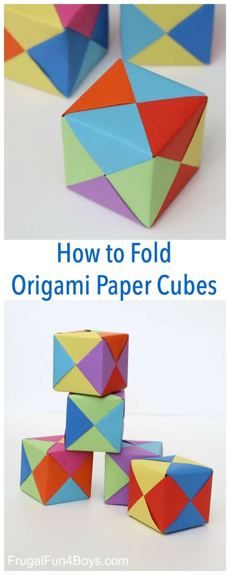 How To Fold Paper For Paper Dolls - how to fold origami paper cubes
