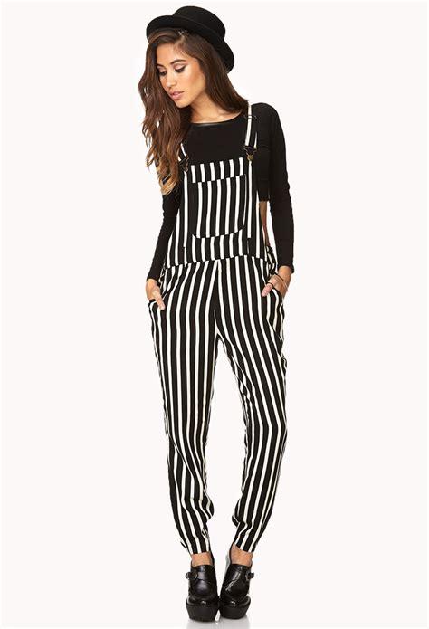 Overall Stripy black overalls wardrobe mag