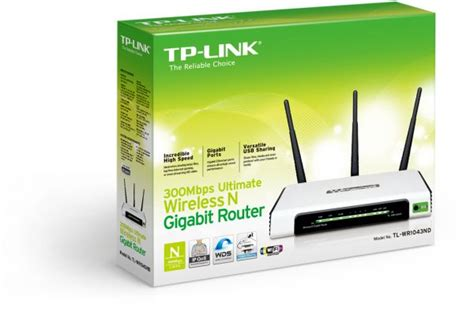 Wr1043nd Tplink Wireless N Gigabit Router 300mbps tp link 300mbps wireless n gigabit router tl wr1043nd price review and buy in amman