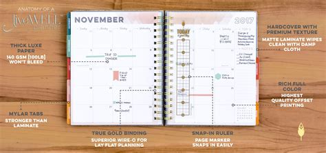 planner com livewell planner from inkwell press planners for women