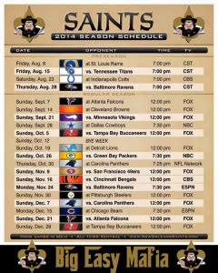 golds the fan schedule big easy mafia the official fan of the who dat nation