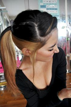 blonde on top dark on bottom hair color 1000 ideas about two toned hair on pinterest burgundy
