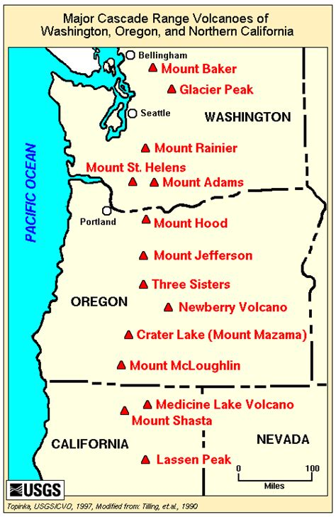 map of oregon volcanoes crater lake hike and go seec
