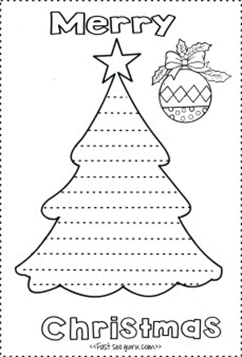 Print Out Christmas Tree Write A Letter Template To Santa Claus Printable Coloring Pages For Kids Color In Letter Template