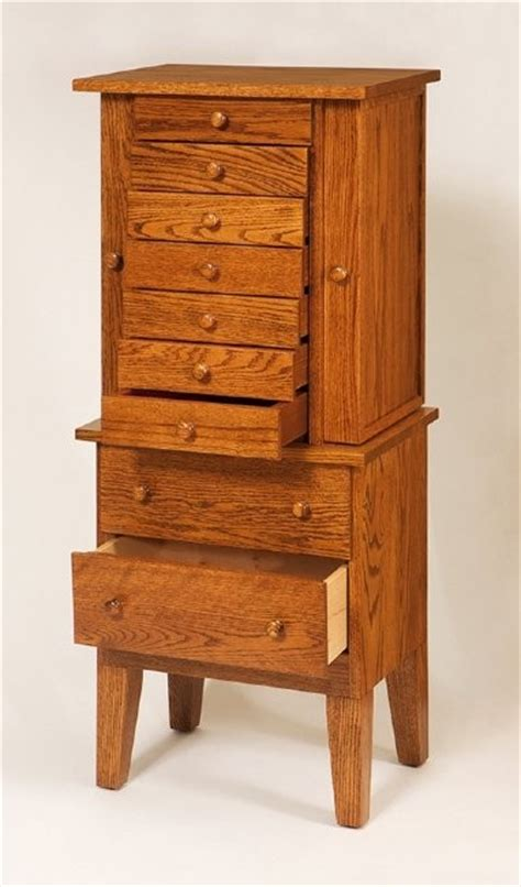solid oak jewelry armoire shaker jewelry armoire amish crafted jewelry armoire