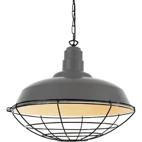 Industrial Style Pendant Lighting Drop Large Grey Industrial Ceiling Pendant Light With Metal Cage